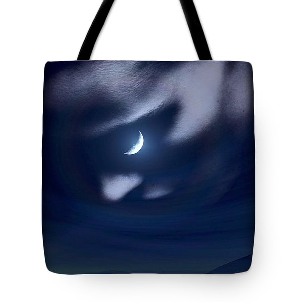 In The Quiet Of Your Mind Blue Tote Bag by ISAW Gallery
