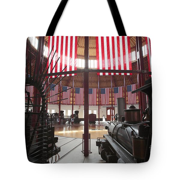 In The Roundhouse At The B And O Railroad Museum In Baltimore Tote Bag