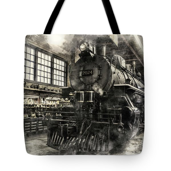 In The Roundhouse Tote Bag