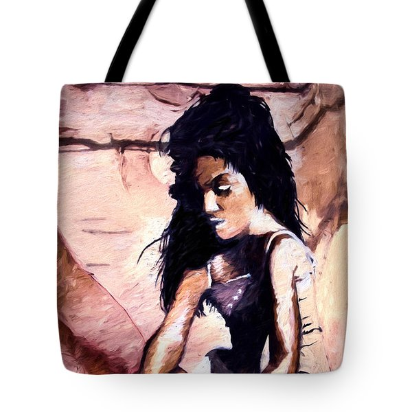 Tote Bag featuring the digital art In The Sand by Pennie  McCracken