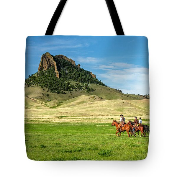 Tote Bag featuring the photograph In The Shadow Of Birdtail Butte by Todd Klassy
