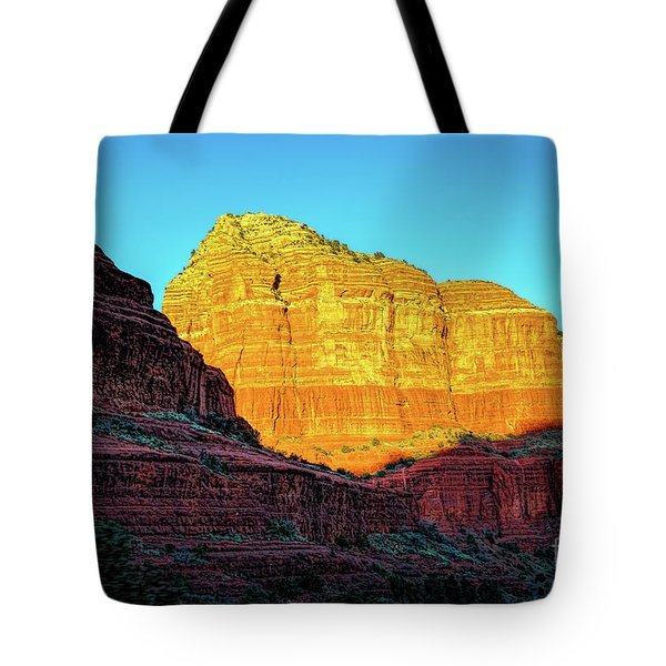 In The Shadow Of The Bell Tote Bag by Jon Burch Photography