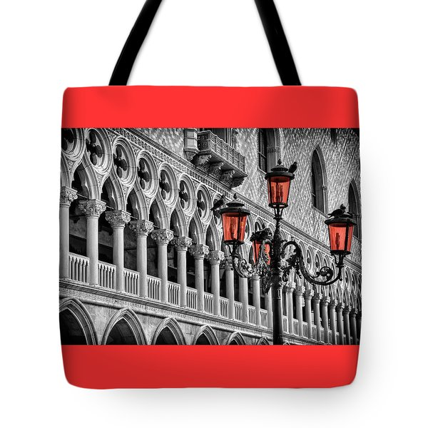 Tote Bag featuring the photograph In The Shadow Of The Doges Palace Venice by Carol Japp
