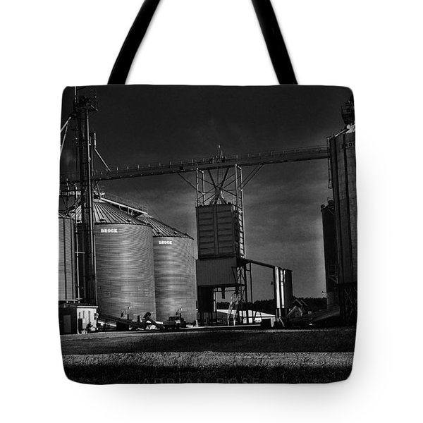 In The Still- Black And White Tote Bag