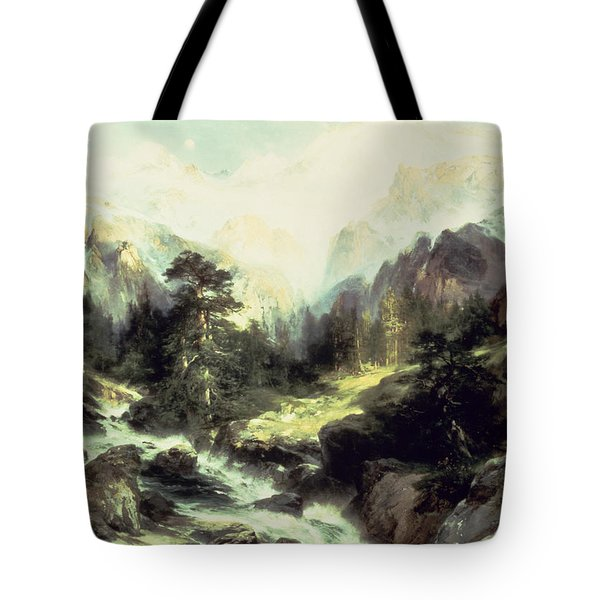 In The Teton Range Tote Bag