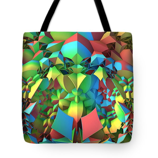 Tote Bag featuring the digital art In The Tropics by Lyle Hatch
