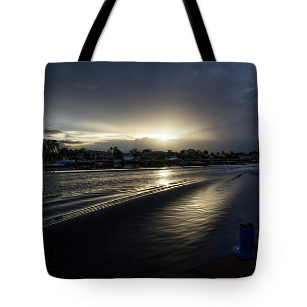 Tote Bag featuring the photograph In The Wake Zone by Laura Fasulo