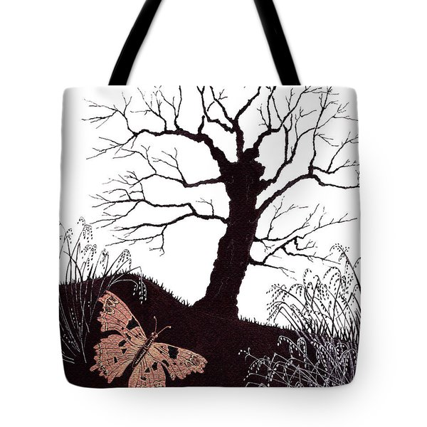 Tote Bag featuring the painting In The Winter Woods by Stanza Widen