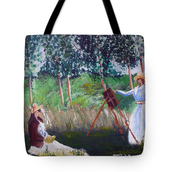 In The Woods At Giverny Tote Bag by Luis F Rodriguez