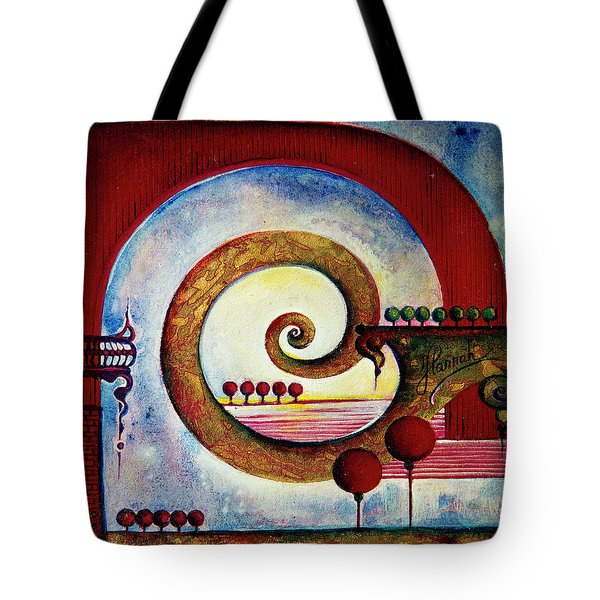 In The World Of Balance Tote Bag by Anna Ewa Miarczynska