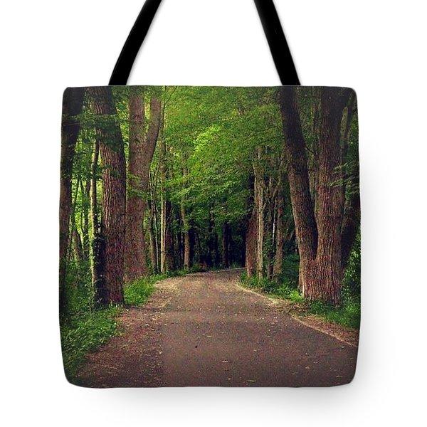 In To The   Deep Dark Woods  Tote Bag