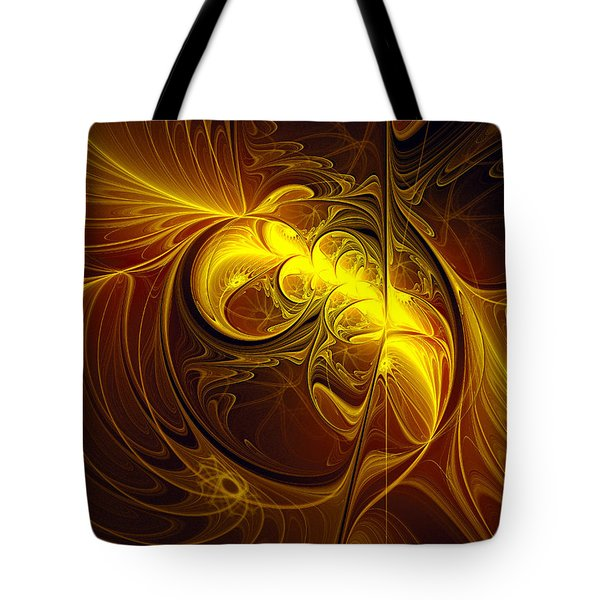 Tote Bag featuring the digital art In Utero by Isabella Howard