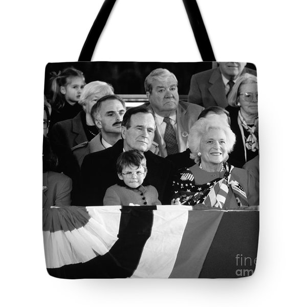Inauguration Of George Bush Sr Tote Bag