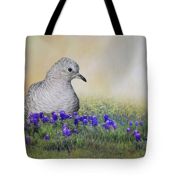Tote Bag featuring the photograph Inca Dove  by Bonnie Barry