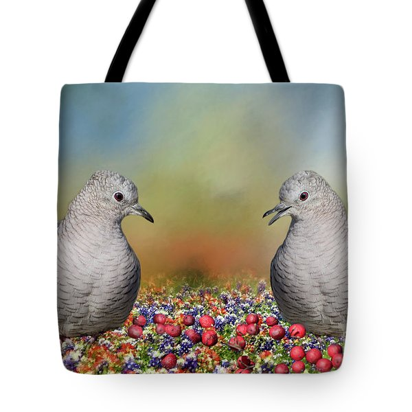 Tote Bag featuring the photograph Inca Doves by Bonnie Barry