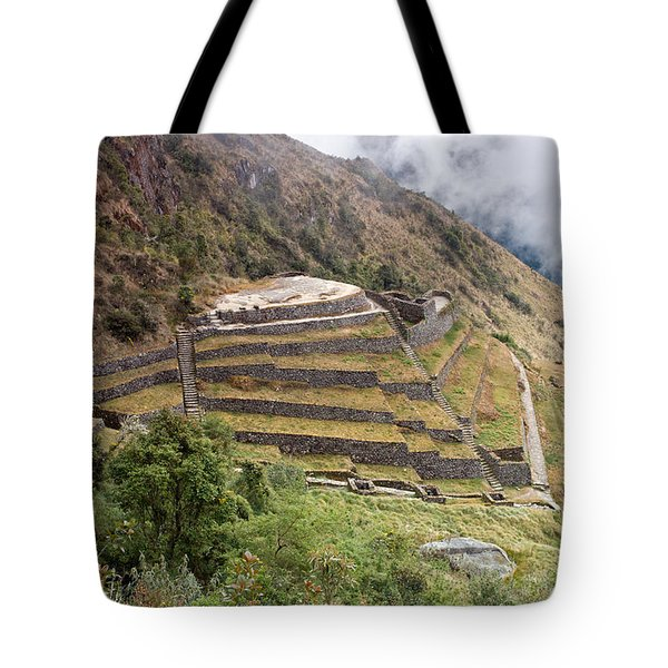 Inca Ruins And Terraces Tote Bag by Aivar Mikko