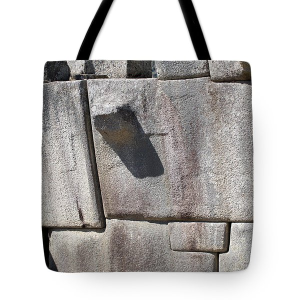 Machu Picchu Inca Wall  Tote Bag by Aivar Mikko
