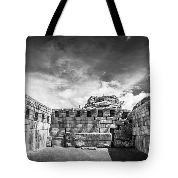 Tote Bag featuring the photograph Inca Walls. by Gary Gillette