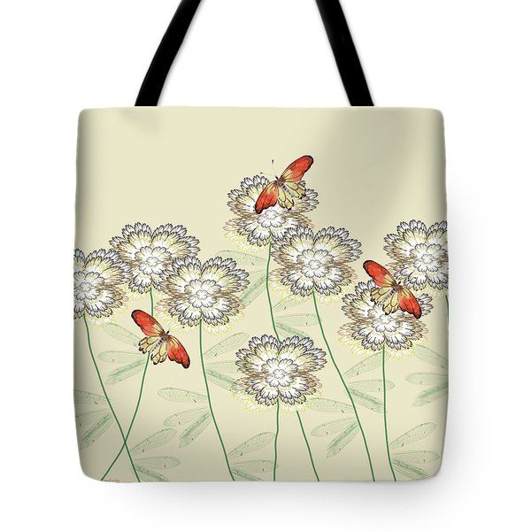 Incendia Flower Garden Tote Bag