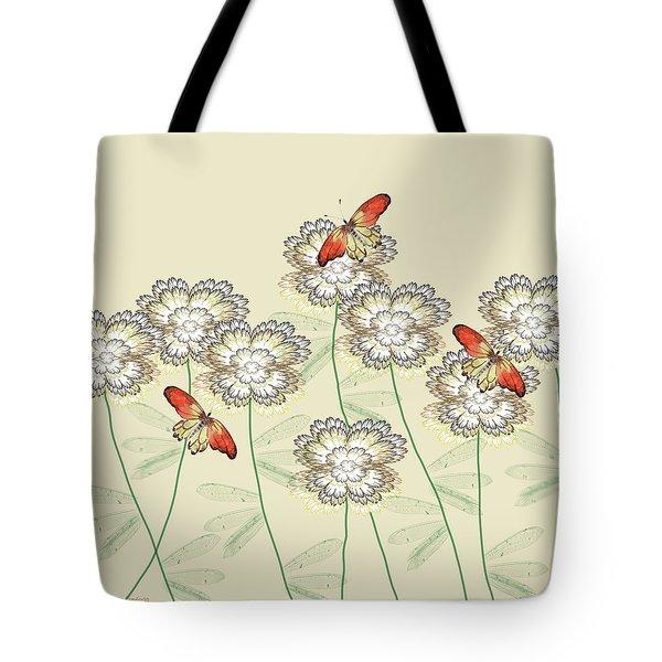 Incendia Flower Garden Tote Bag