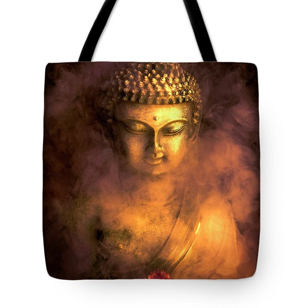 Tote Bag featuring the photograph Incense Buddha by Daniel Hagerman