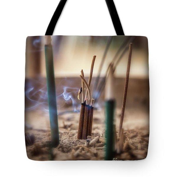 Incense Burning Tote Bag
