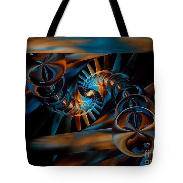 Inception Abstract Tote Bag by Olga Hamilton