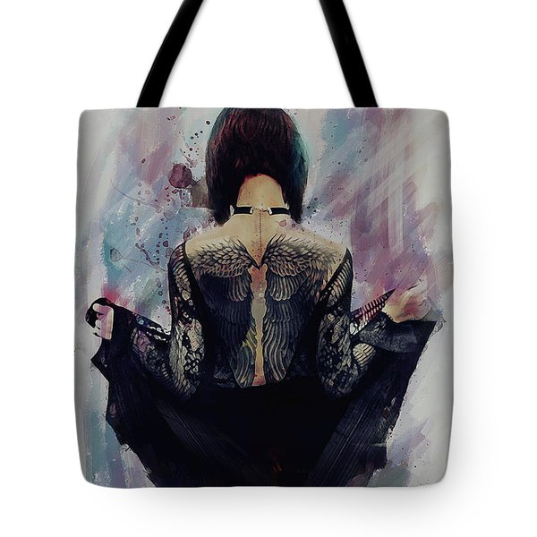 Incite - Dark Angel Tote Bag