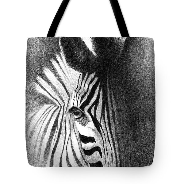 Tote Bag featuring the drawing Incognito by Phyllis Howard