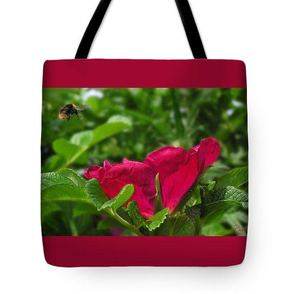 Incoming Rose Tote Bag
