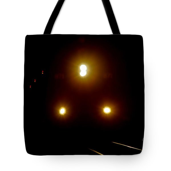 Tote Bag featuring the photograph Incoming Train by Mariola Bitner