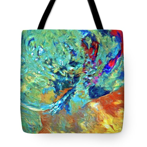 Tote Bag featuring the painting Incursion by Dominic Piperata