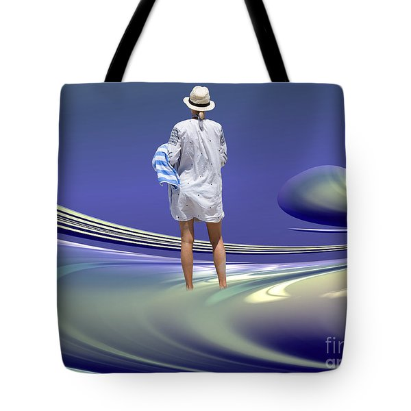Tote Bag featuring the digital art Indecision by Elaine Teague