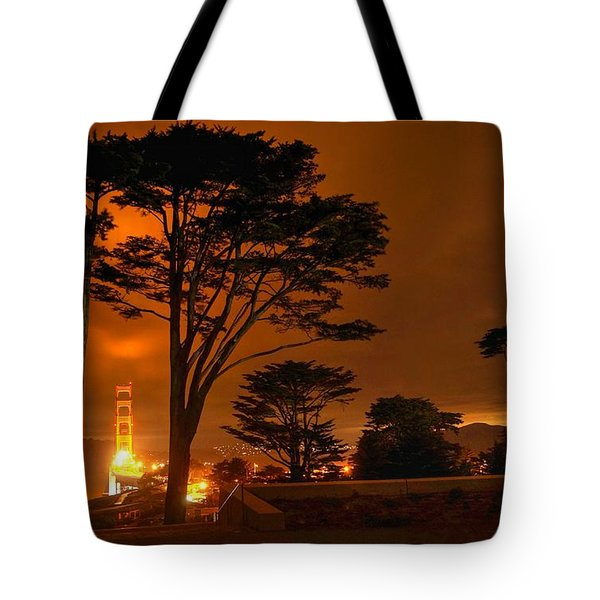 Indeed The Bridge Is Golden Tote Bag