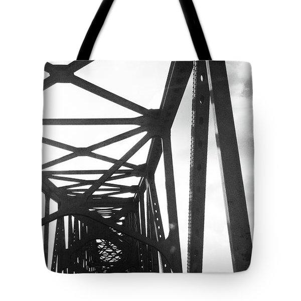 Tote Bag featuring the photograph Indefinite Sight Bw by Jamie Lynn