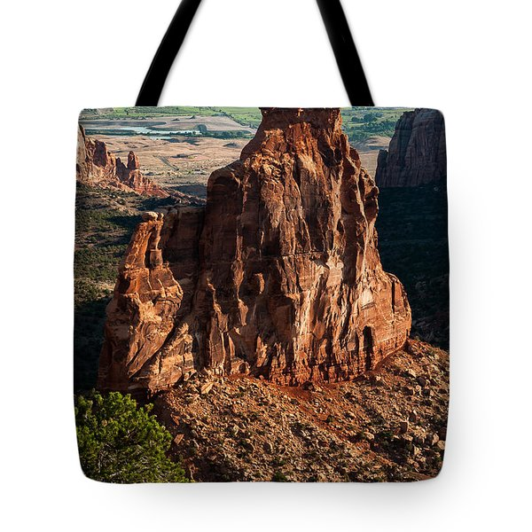 Tote Bag featuring the photograph Indepedence Rock by Jay Stockhaus