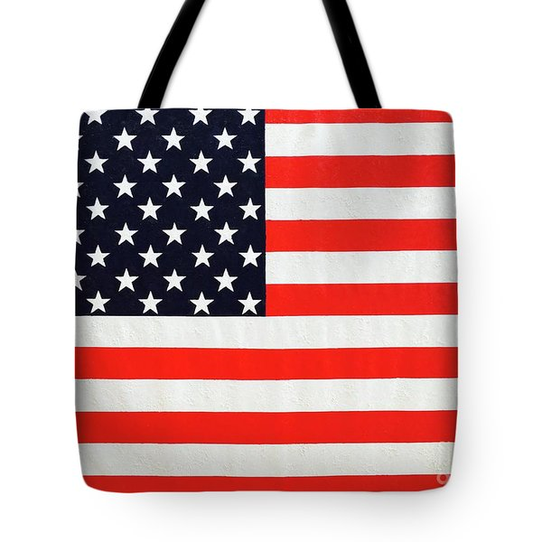 Pooling Independence Day Large Scale Oil On Canvas Original United States Flag Tote Bag