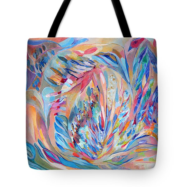 Tote Bag featuring the painting Independence Day by Linda Cull