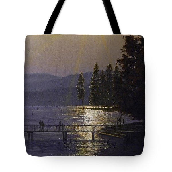 Independence Point, Lake Coeur D'alene Tote Bag