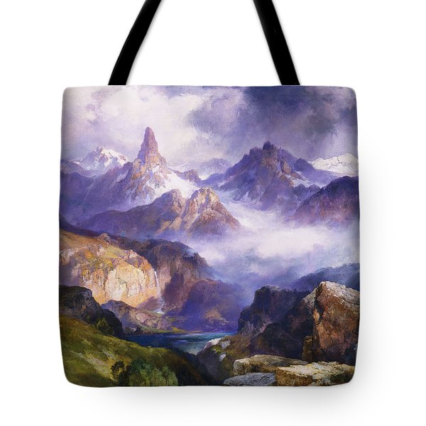 Index Peak Yellowstone National Park Tote Bag by Thomas Moran