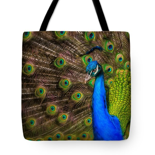 Tote Bag featuring the photograph India Blue by Rikk Flohr
