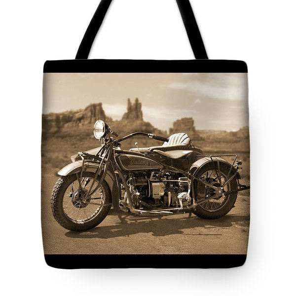 Indian 4 Sidecar Tote Bag by Mike McGlothlen