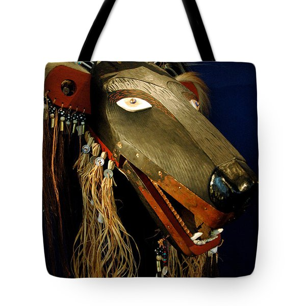 Indian Animal Mask Tote Bag
