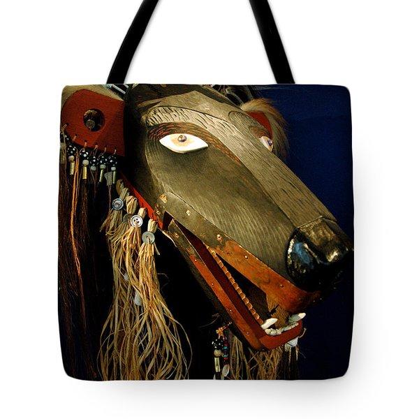 Indian Animal Mask Tote Bag by LeeAnn McLaneGoetz McLaneGoetzStudioLLCcom
