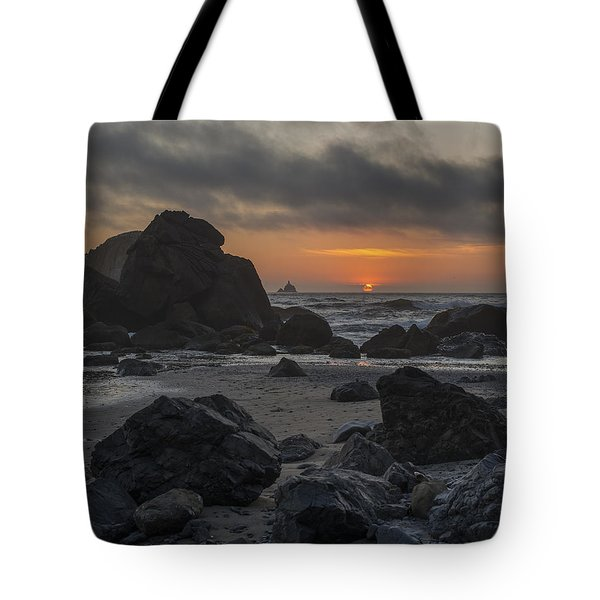 Indian Beach Sunset Tote Bag