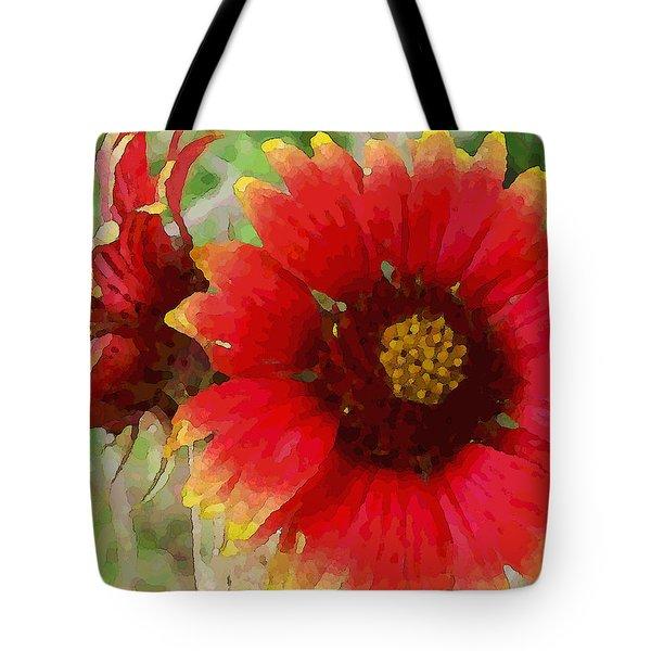 Indian Blanket Flowers Tote Bag