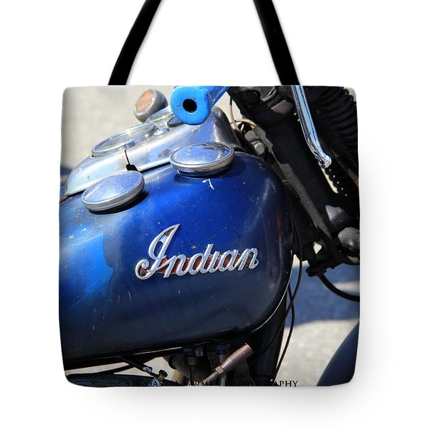 Indian Blue Tote Bag