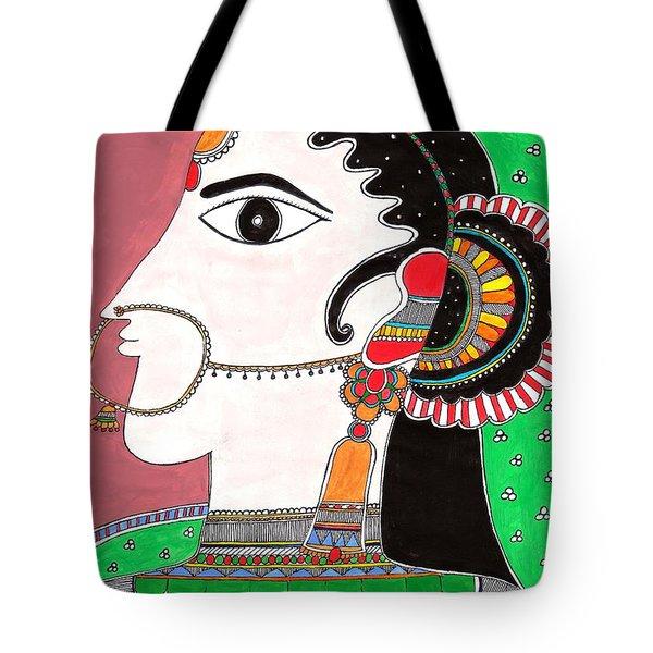 Indian Bride -colored Version Tote Bag