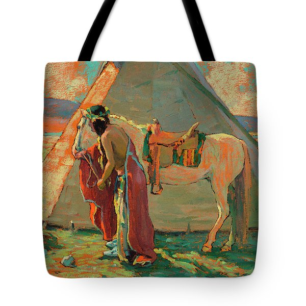 Indian Camp Tote Bag