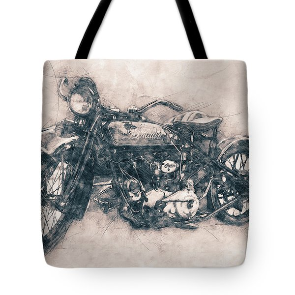 Indian Chief - 1922 - Vintage Motorcycle Poster - Automotive Art Tote Bag